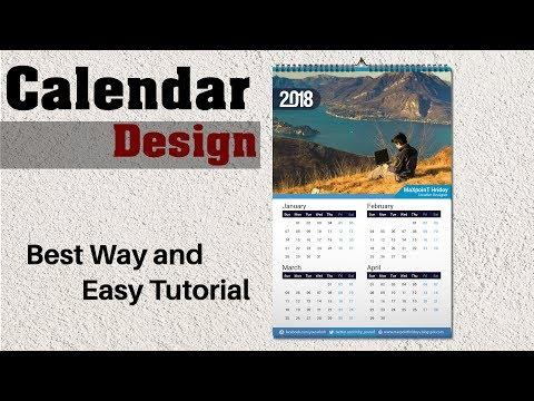 Calendar Design 2018 Tutorial | How To Create a Calendar  Illustrator Bangla Tutorial | #Maxpoint