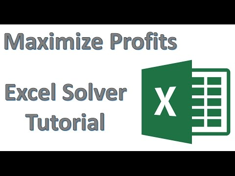 Maximize Profit by Optimizing Production Using Excel Solver