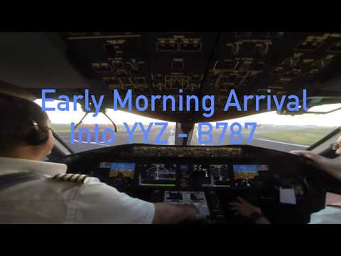 B787 Arrival in YYZ