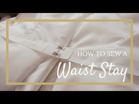 How to Make a Waist Stay & Sew to a Dress - Easy!