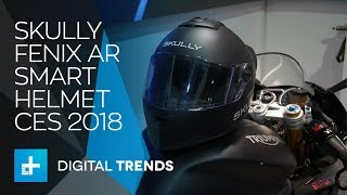 Skully Fenix AR Smart Motorcycle Helmet - Hands On at CES 2018