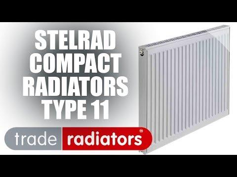 Stelrad Compact Radiator, White, 600mm x 1200mm Single Panel, Single Convector