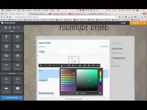 Weebly - Video 4 - How to Change Font Size, Colour, etc.