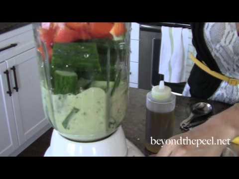 5 Minute Avocado Gazpacho