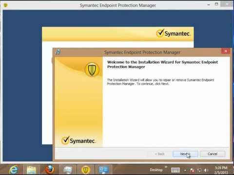 Uninstall Symantec Endpoint Protection Manager 11 on Windows 8