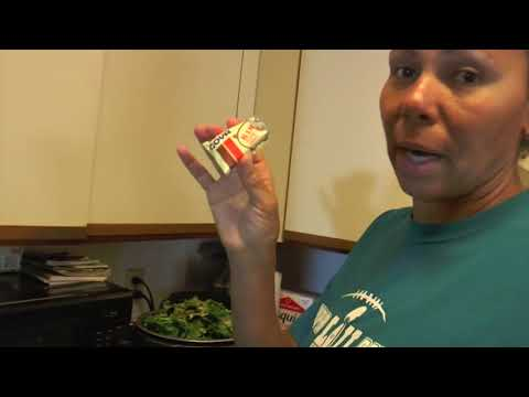 Cooking  Collar Greens in a pressure cooker