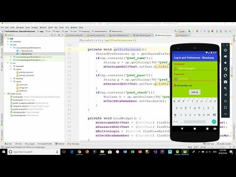 Android Login Screen - How to implement a 'Remember me' function using Shared Preferences