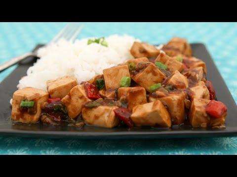 Tofu in Black Bean Sauce (Dau Hu Sot Tuong Den)