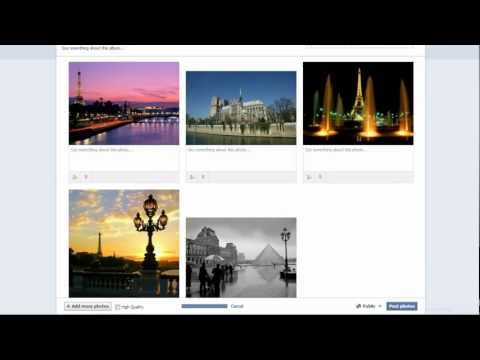 How to add photos and create albums and put privacy on them