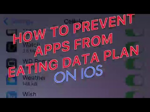Stop Apps from Eating your Data Plan! like instagram facebook Snapchat IOS iphone [tutorial] BURP
