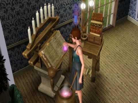 Sims 3 Supernatural - Mixing a Potion