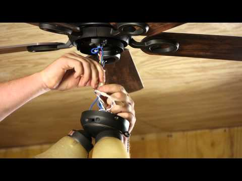 How to Change a Light Fixture on a Ceiling Fan : Ceiling Fan Projects