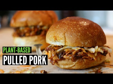 Vegan Pulled Pork made with Mushrooms in 10 Minutes!