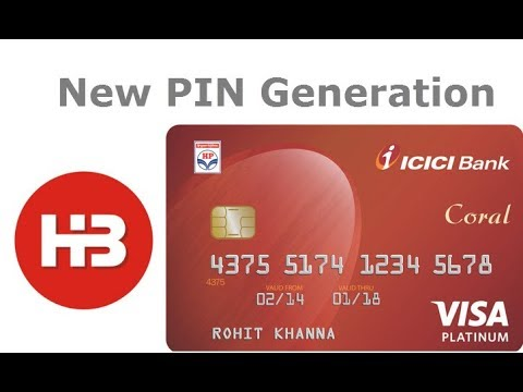 Forgot your ICICI card PIN? -see How to generate ATM PIN for ICICI Bank Instantly