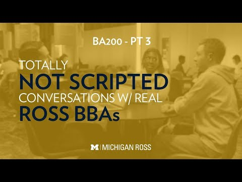 Michigan Ross BBA Students Discuss Creating Personal Development Plans