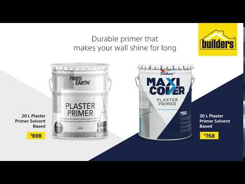 Dulux and Fired Earth 20L Plaster Primers for Sale