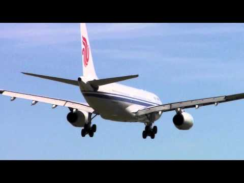 Air China Airbus A330-200 Flight CA177 Landing Melbourne from BEIJING SHANGHAI ATC 04DEC10