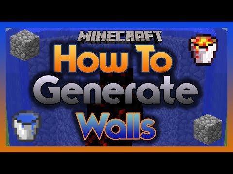 How To Generate Cobblestone Walls! (Using Water & Lava)