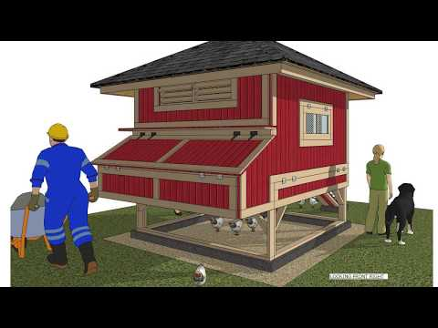 L301 - Chicken Coop Plans Construction - Roll Out Nest Boxes - How To Build A Chicken Coop