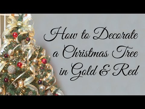 How to Decorate a Christmas Tree in Gold and Red