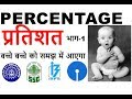 Percentage Problems Tricks and Shortcuts   Railway Alp & Technician  GROUP C   GROUP D   in HINDI