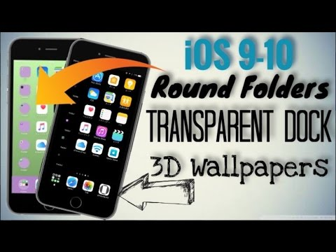 Get 3D Wallpapers,Transparent Docks,Round Folders Without Jailbreak On Your iPhone/iPad/iPod