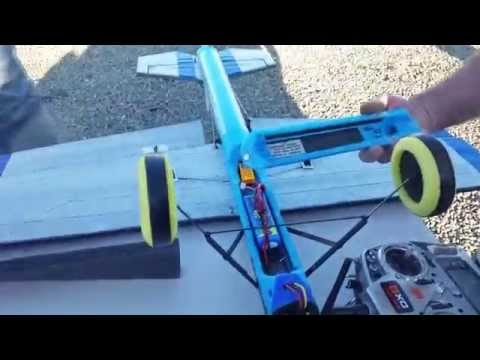 RC plane made of Pool Noodle on Stu's Channel