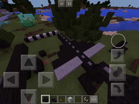 How to Make an Enderdragon Statue in Minecraft PE
