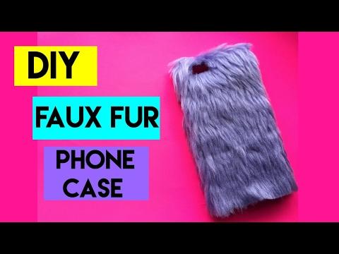 2 EASY DIY FAUX FUR PHONE CASES  | Crafty Phoenix