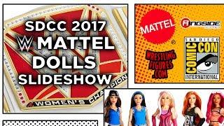 Mattel WWE DOLLS Full Panel SLIDES! - SDCC 2017 - San Diego Comic Con!