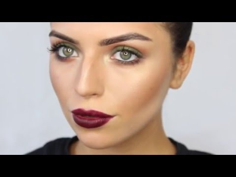 Eye Make Up Tutorial Green Eyes, Strobing and Berry Lips