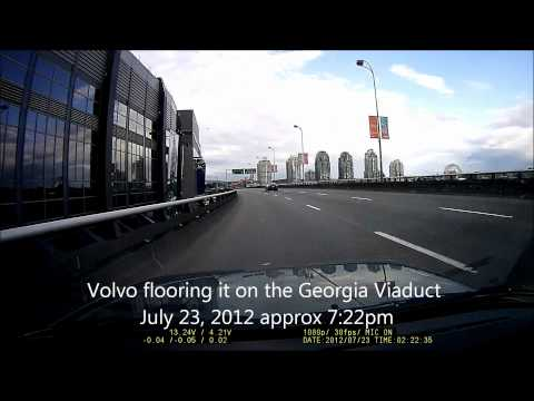 Speeding Volvo in Vancouver