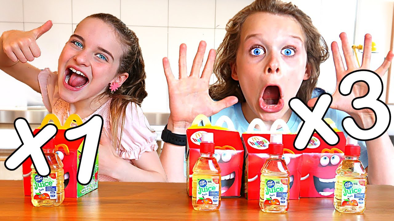 I ATE 3x MY SISTER'S DIET FOR A DAY Challenge w/ The Norris Nuts