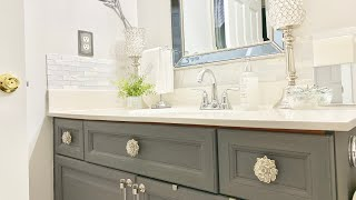 Download BATHROOM COUNTERTOP DECORATING IDEAS GUEST BATHROOM DECORATE WITH ME Video