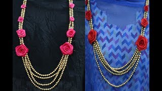 Easy DIY Flower Jewelry For Brides floral jewellery | jewellery for wedding and other funtions