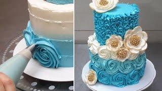 Bolo rosas de chantilly com borboletas comestveis como aplicar how to make rose swirl buttercream cake rosas con crema de mantequilla by cakes stepbystep altavistaventures Gallery