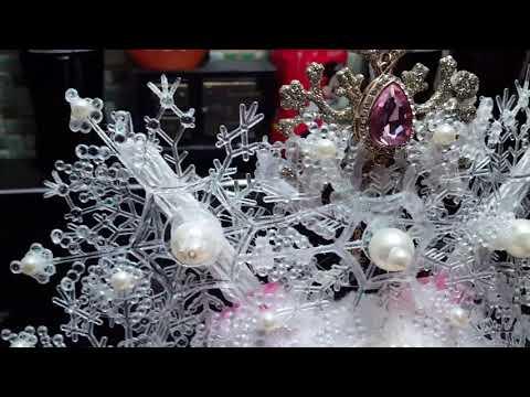 Snowflake tiara Dollar Tree DIY