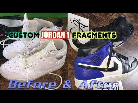 How To: Nike JORDAN Retro 1 FRAGMENT CUSTOM Tutorial - Frags Time-Lapse