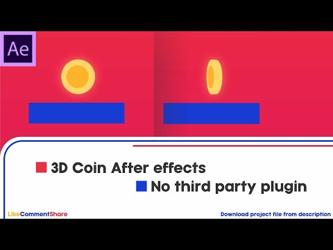 3D Coin in After effects no plugin