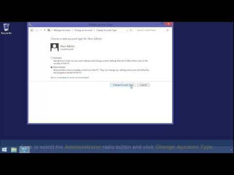 Change Administrator in Windows 8