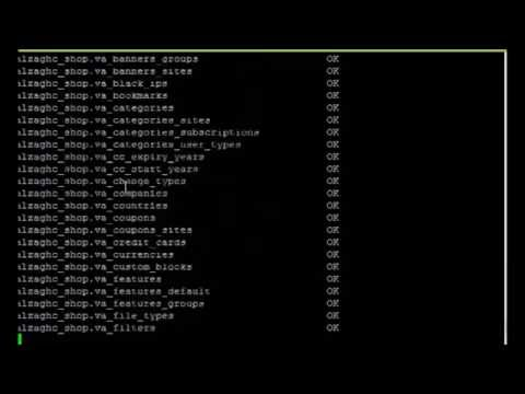 repair all databases with one command shell Linux