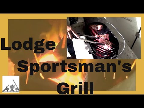 Lodge Sportsman's Grill Unbox, Assemble, Season and Cook