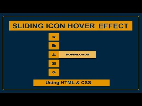 Sliding Icon Hover effect - Icon hover effect - Font awesome icons - CSS Icon hover effect