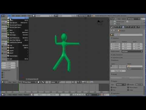 Blender Tutorial Making a Rigged Model of a Stick Man in Under 5 Minutes Using the Skin Modifier