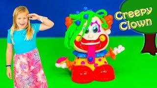 CREEPY Clown Assistants Birthday Clown Surprise