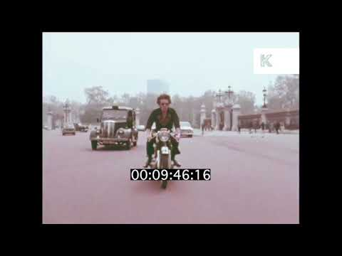 1970s Motorbike Ride through Central London | Kinolibrary