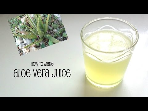 How to make Aloe Vera Juice for hair and skin care