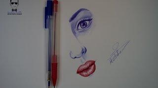 #x202b;تعلم الرسم بالقلم الجاف الحبر مع الخطوات للمبتدئين#x202c;lrm;