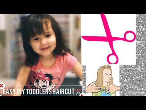 How To Cut Little Girls Hair // Easy Little Girls Haircut Tutorial /DIY Litlle Girls Haircut