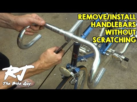 Remove/Install Bike Handlebars Without Scratching In Quill Stem